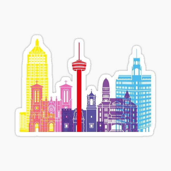 San Antonio skyline pop Sticker