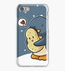 Penguins and potatoes are in love iPhone Case/Skin