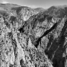 Black Canyon of the Gunnison 1 BW  by Robert Meyers-Lussier