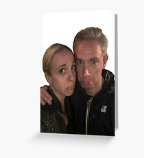 Martin Freeman and Amanda Abbington Greeting Card