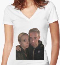 Martin Freeman and Amanda Abbington Women's Fitted V-Neck T-Shirt