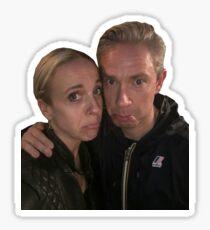 Martin Freeman and Amanda Abbington Sticker