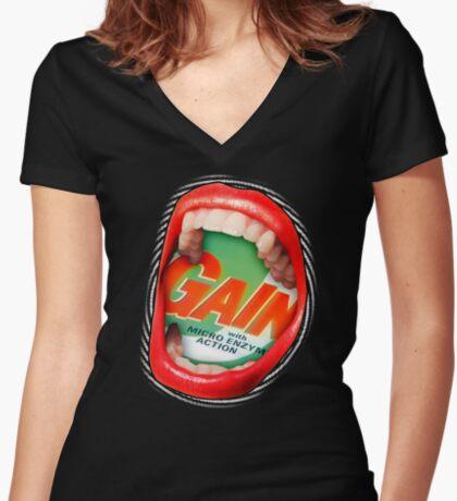 Cosmic Scream II Women's Fitted V-Neck T-Shirt