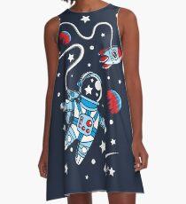 Space Walk A-Line Dress