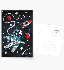 Weltraumspaziergang Postkarten