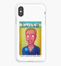 Evita y corazones by Diego Manuel iPhone Case