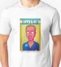 Evita y corazones by Diego Manuel Unisex T-Shirt