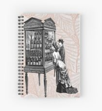 Victorian Steampunk Wine Shopping Couple Spiral Notebook