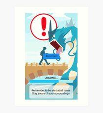 WARNING!!! Art Print