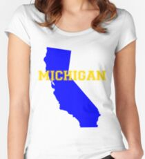 Michifornia Women's Fitted Scoop T-Shirt
