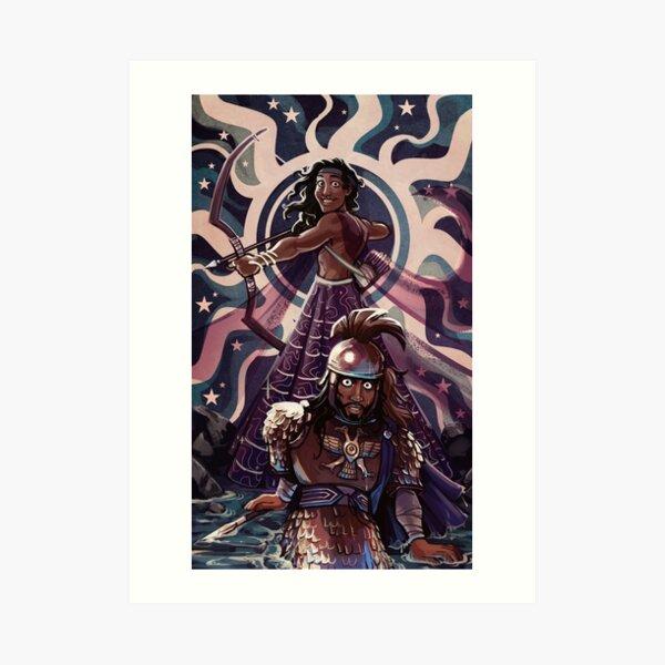 Apollo & Hektor Art Print