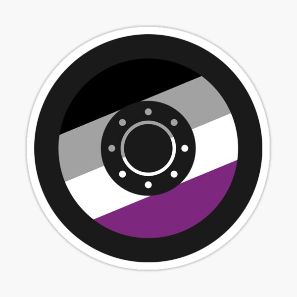Asexual Shield Sticker