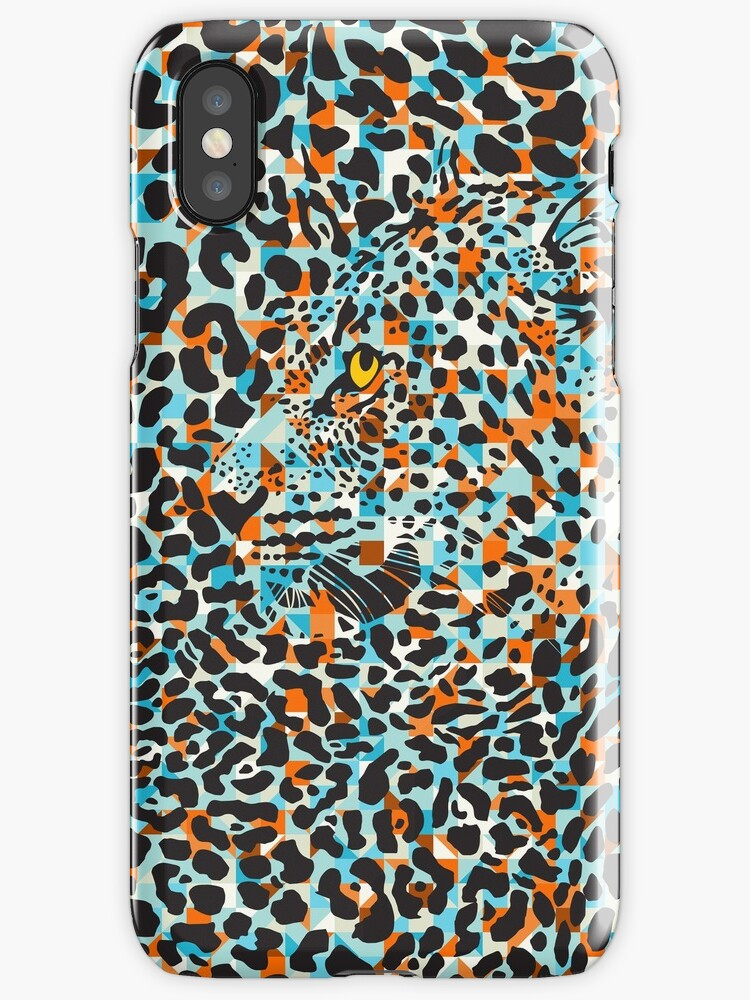 Black & Pastel Tones Camouflaged Leopard Design by artonwear