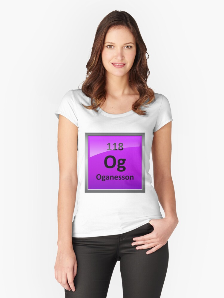 Oganesson element 118 periodic table symbol womens relaxed fit oganesson element 118 periodic table symbol womens fitted scoop t shirt urtaz Gallery