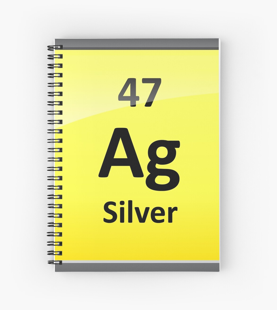 Silver Element Symbol Periodic Table Spiral Notebooks By