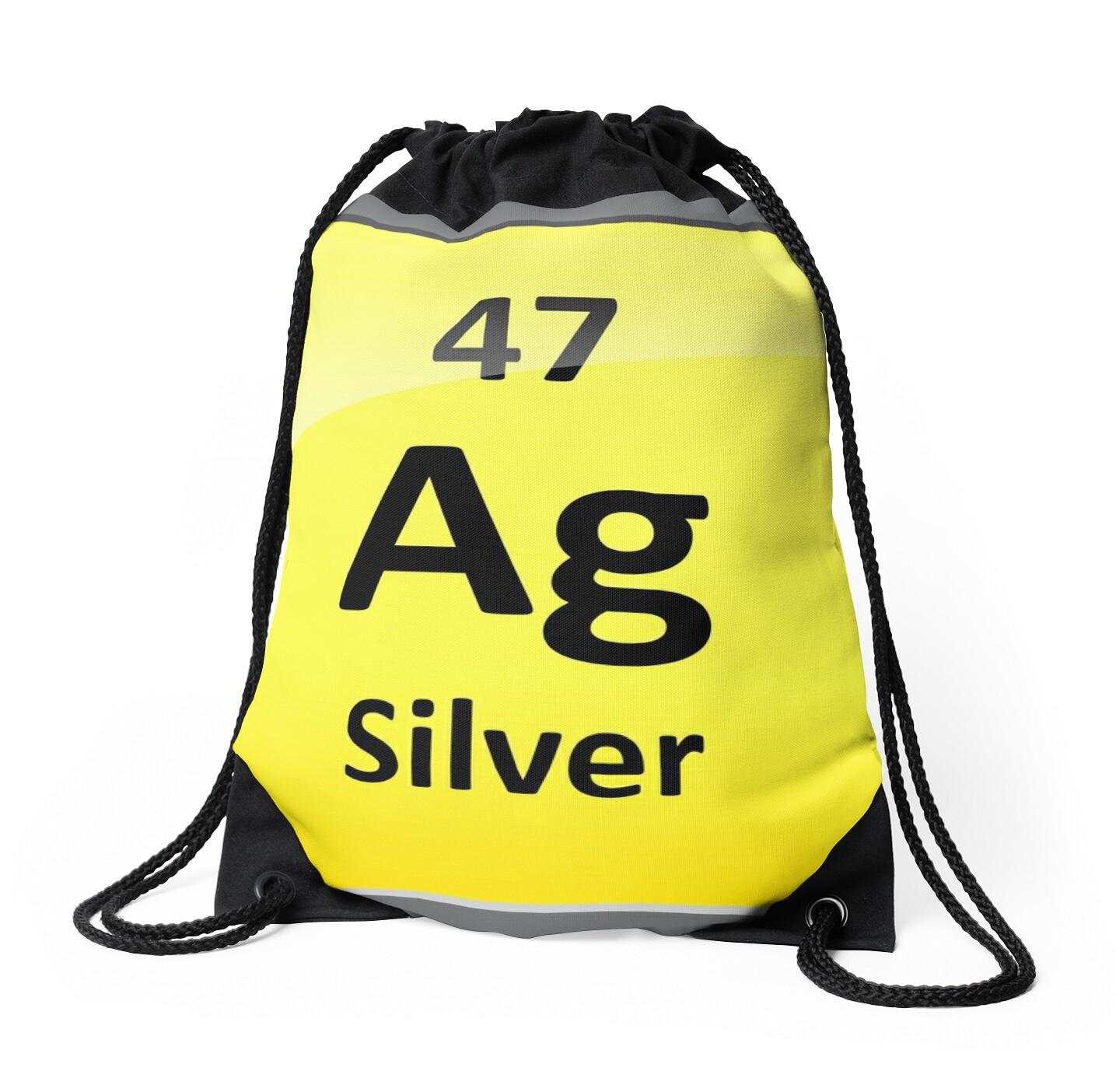 Silver element symbol periodic table drawstring bags by silver element symbol periodic table by sciencenotes gamestrikefo Images