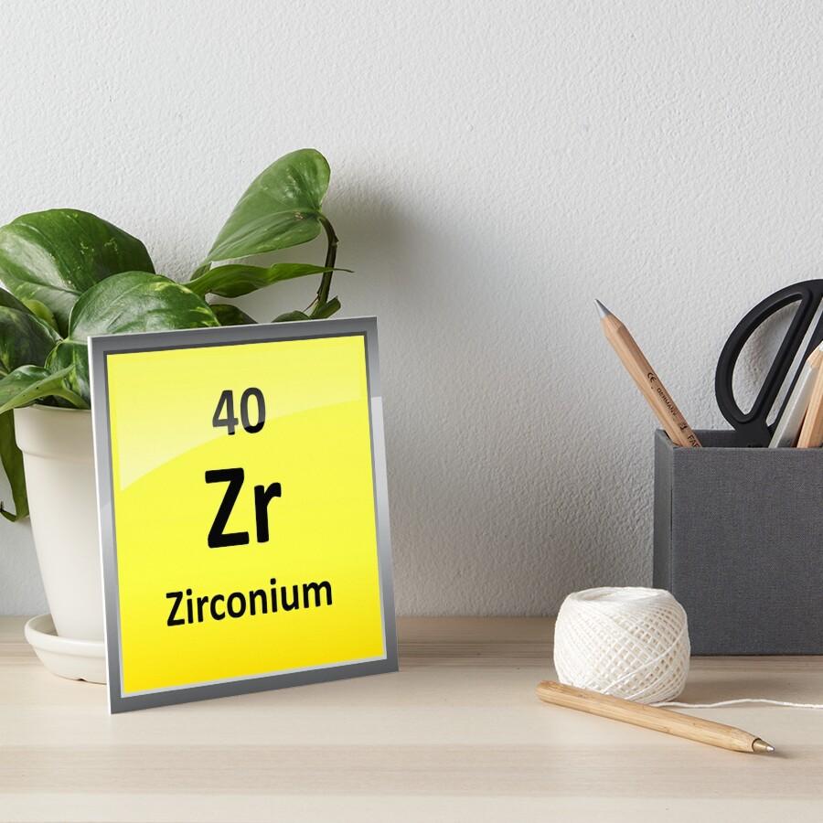 Zirconium element symbol periodic table art boards by zirconium element symbol periodic table gamestrikefo Images