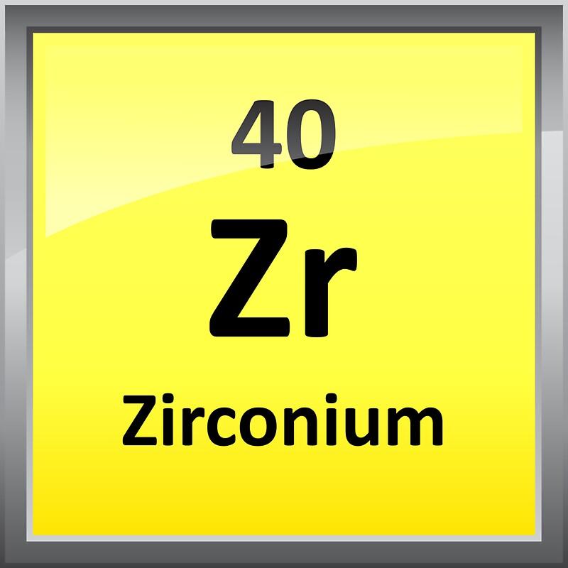 Zirconium element symbol periodic table stickers by zirconium element symbol periodic table by sciencenotes urtaz Images