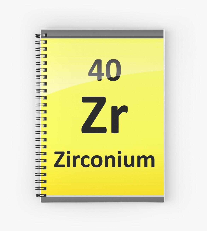 Cuadernos de espiral smbolo de elemento de circonio tabla smbolo de elemento de circonio tabla peridica de sciencenotes urtaz Choice Image