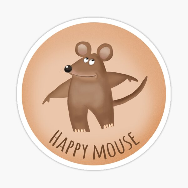 Happy Mouse Sticker