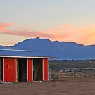 Red Barn Sunset by Chet  King