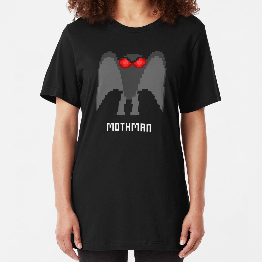 8-Bit MOTHMAN Slim Fit T-Shirt