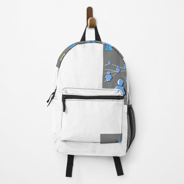 light grey say slogan Backpack