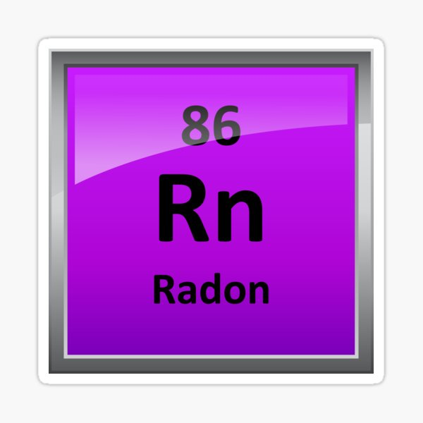 Radon Periodic Table Element Symbol Sticker