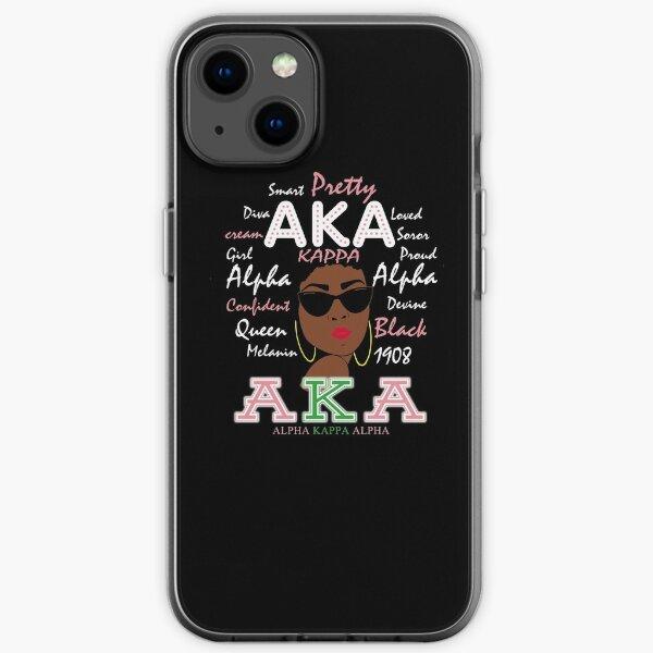 Pretty AKA Alpha Kappa Sorority 1908  iPhone Soft Case