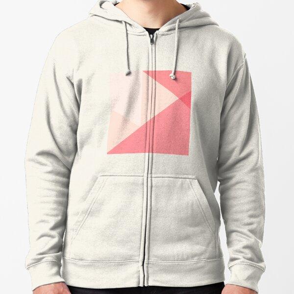 Color Block Geometrica c2  Zipped Hoodie