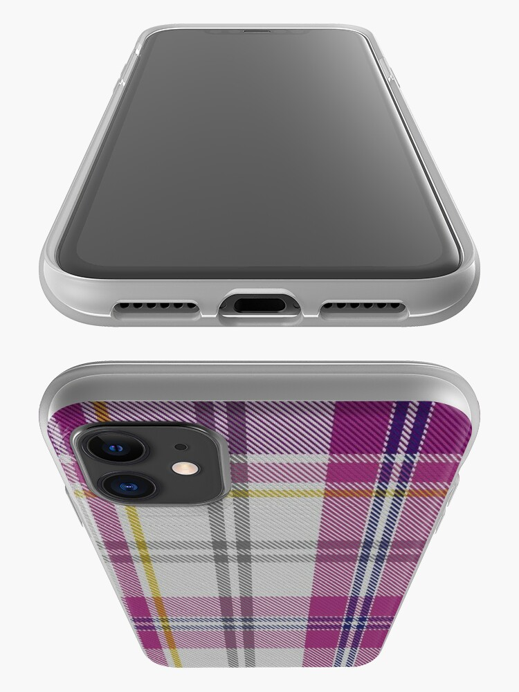 Alternate view of 01066 Confederate Rose Commemorative Tartan iPhone Case & Cover