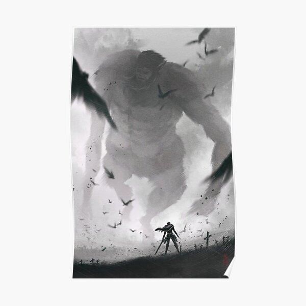 Levi vs Beast Titan Artwork - Attack on Titan Poster
