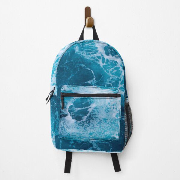 Blue ocean island theme backpack Backpack