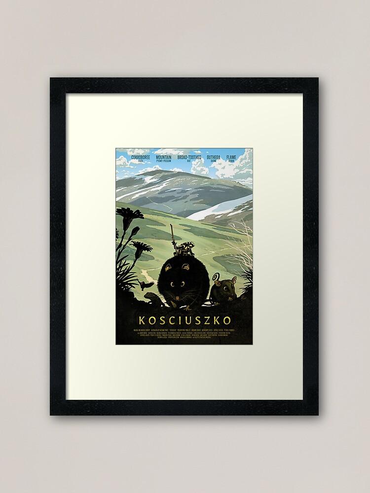 Alternate view of The summit track - Kosciuszko poster series, #1 Framed Art Print