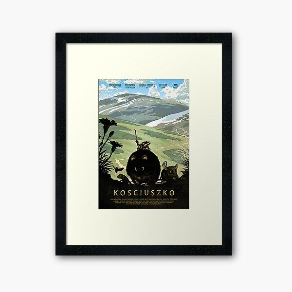 The summit track - Kosciuszko poster series, #1 Framed Art Print