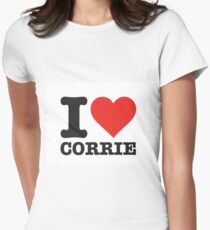 I love Corrie Women's Fitted T-Shirt