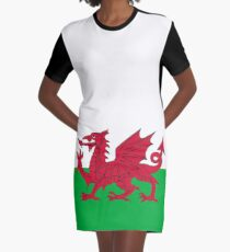 National flag of Wales - High Quality Authentic version Graphic T-Shirt Dress