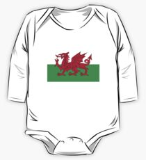 National flag of Wales - High Quality Authentic version One Piece - Long Sleeve