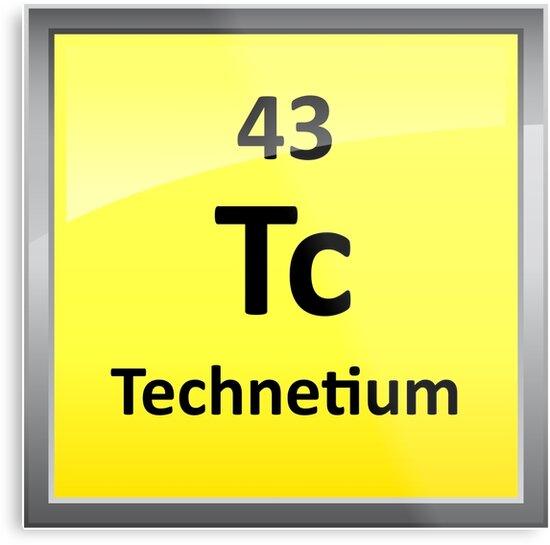 Technetium periodic table element symbol metal prints by technetium periodic table element symbol by sciencenotes urtaz Images