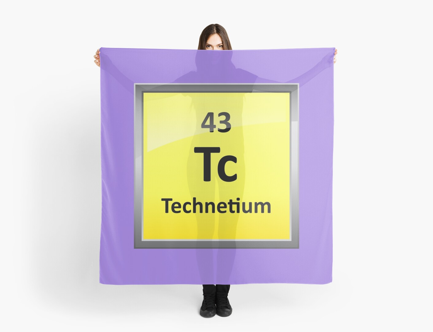 Technetium Periodic Table Element Symbol Scarves By Sciencenotes