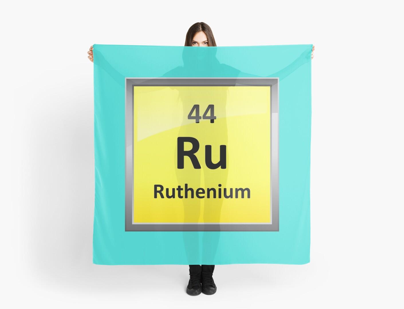 Ruthenium Periodic Table Element Symbol Scarves By Sciencenotes