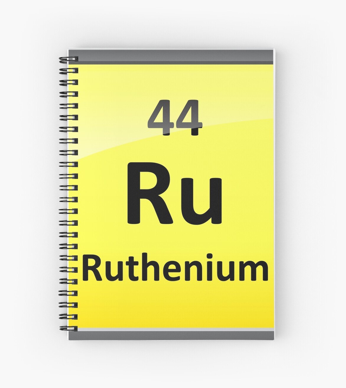 Ruthenium Periodic Table Element Symbol Spiral Notebooks By