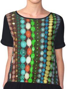 Vintage Bead Necklaces Jewellery Chiffon Top