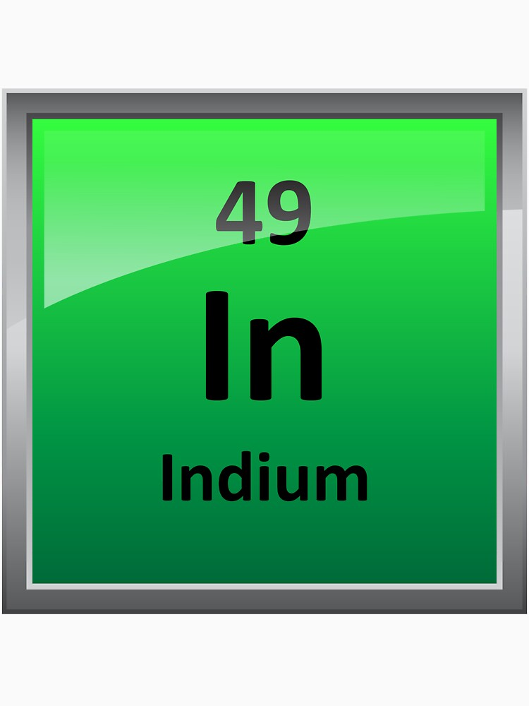 Indium Periodic Table Element Symbol Classic T Shirt By