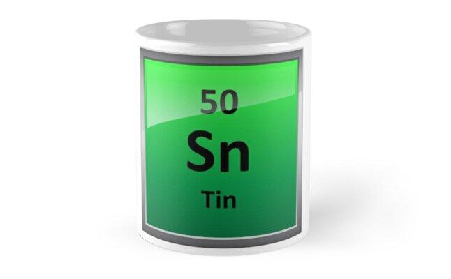 Tin periodic table element symbol mugs by sciencenotes redbubble tin periodic table element symbol urtaz Gallery