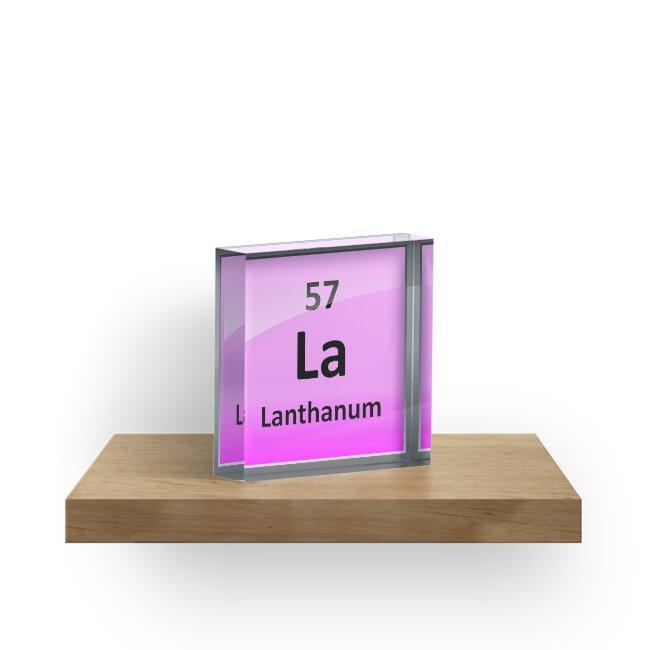 Lanthanum Periodic Table Element Symbol Acrylic Blocks By