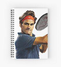 Cuaderno de espiral Roger Federer en acción