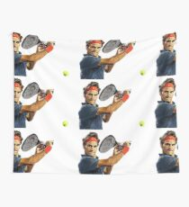 Roger Federer en action Tenture murale