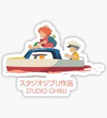 Ponyo: Drift Away Sticker