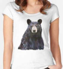 Black Bear Fitted Scoop T-Shirt